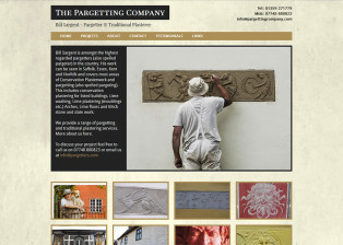 The Pargetting Company Website
